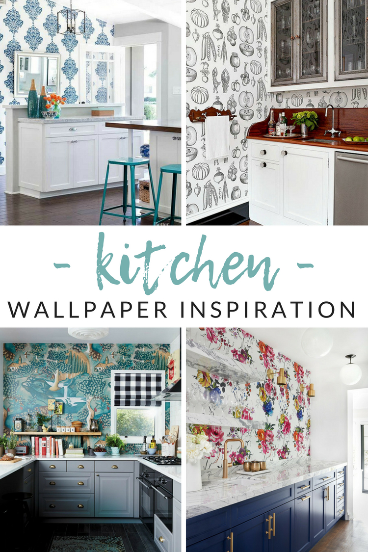 love the idea of wallpaper but afraid to pick or stick - Kitchen Wallpaper Ideas