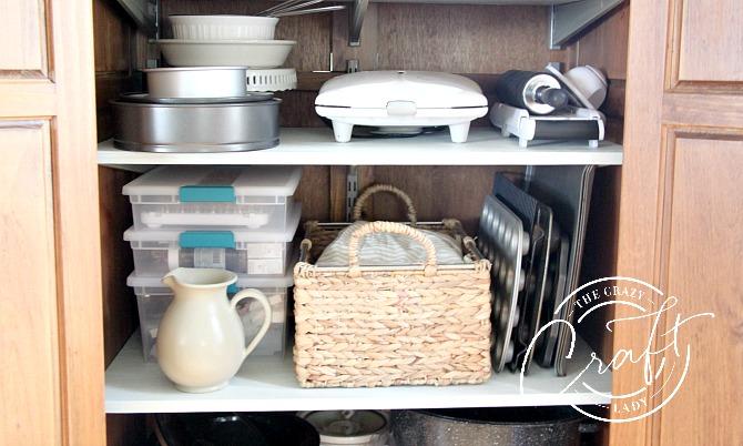 organized pantry cabinet shelves