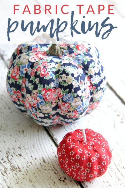 Colorful, No-Carve DIY Fabric Tape Pumpkins