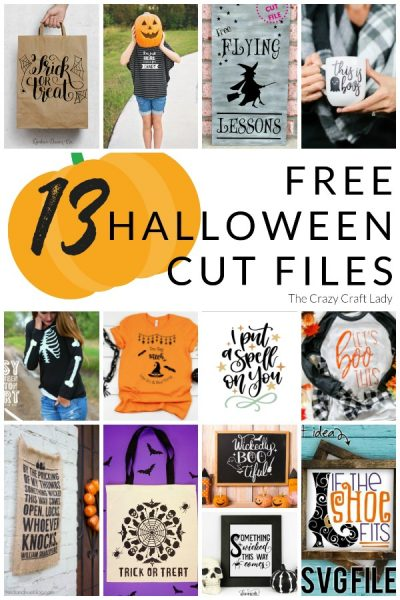 13 Spooktacular FREE Halloween Cut Files