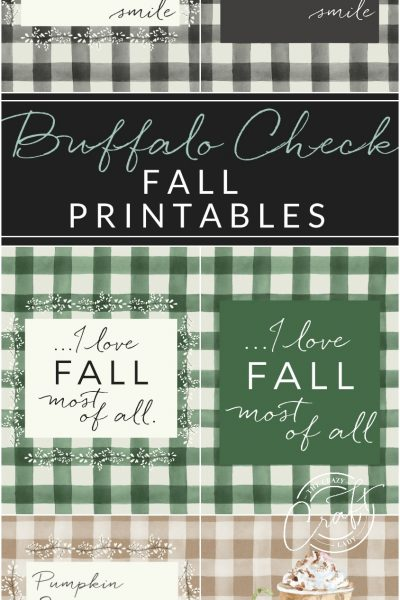 Update your seasonal gallery walls for Autumn with these FREE fall buffalo check prinables