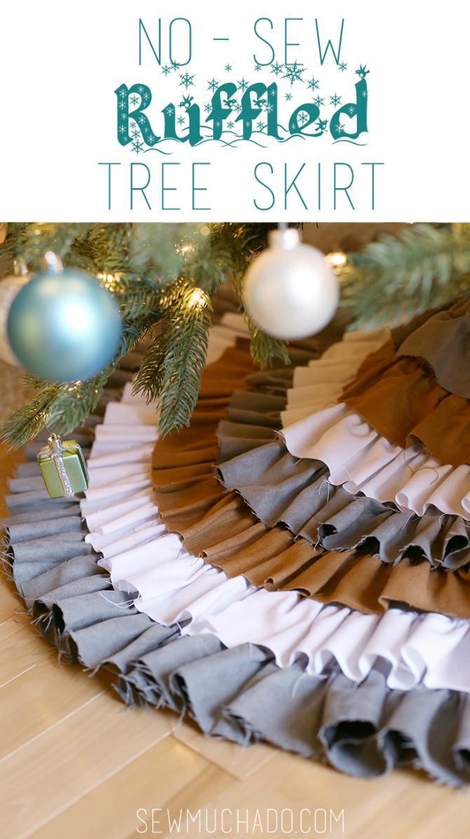 DIY Christmas Tree Skirt Ideas: Ruffled Tree Skirt from Sew Much Ad