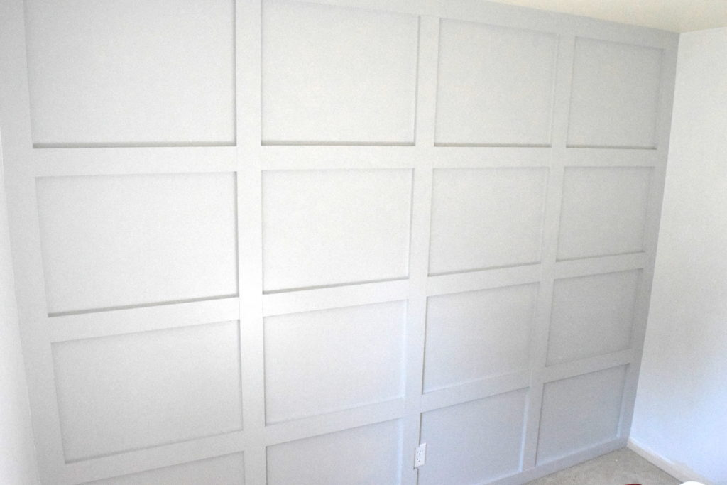 DIY grid board and batten wall