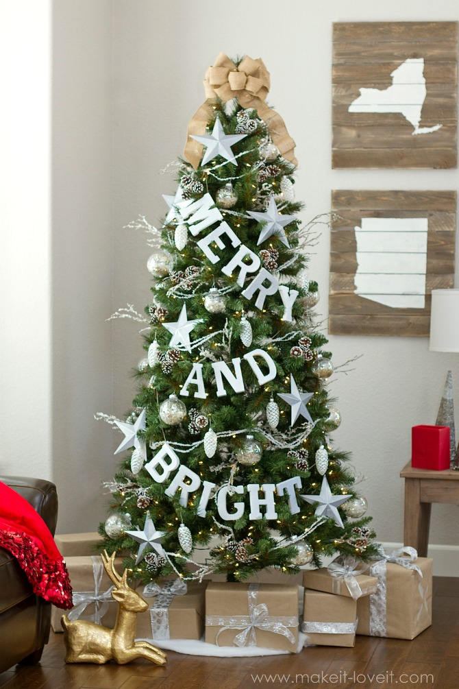 New and Unexpected Christmas Tree Garland Ideas - Merry and Bright Christmas Tree Garland