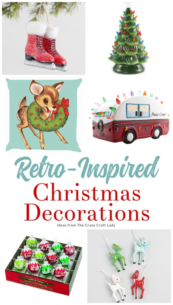 A Little Nostalgia Vintage Christmas Decorations The Crazy Craft Lady