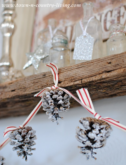New and Unexpected Christmas Tree Garland Ideas - Snowy Pine Cone Garland