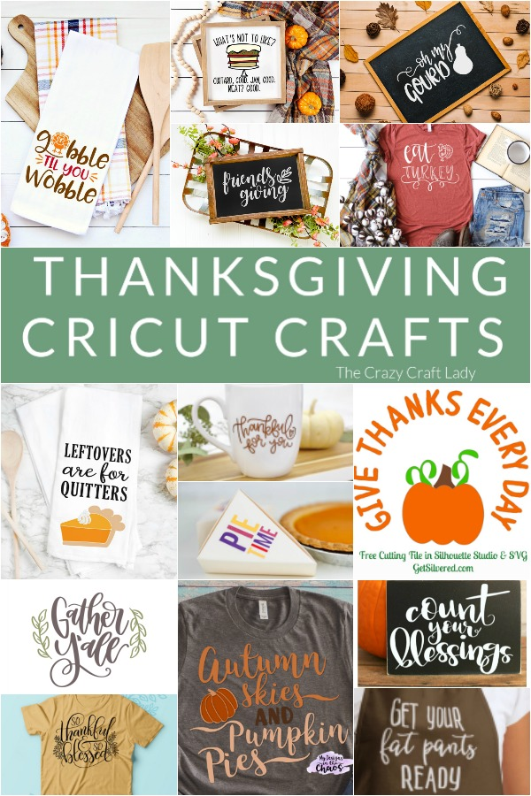 Whip out your Cricut and make one of these Thanksgiving DIY projects using a FREE svg file.
