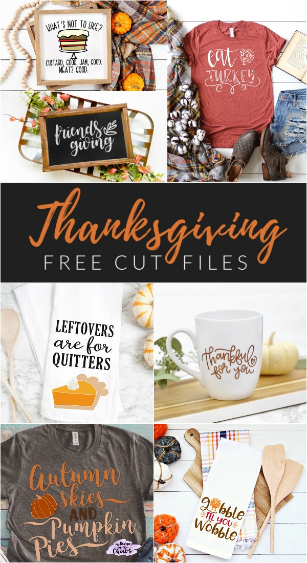 From holiday tea towels and leftover boxes, to t-shirts and aprons, get your craft on and make a Cricut Thanksgiving project using one of these FREE Thanksgiving cut files!