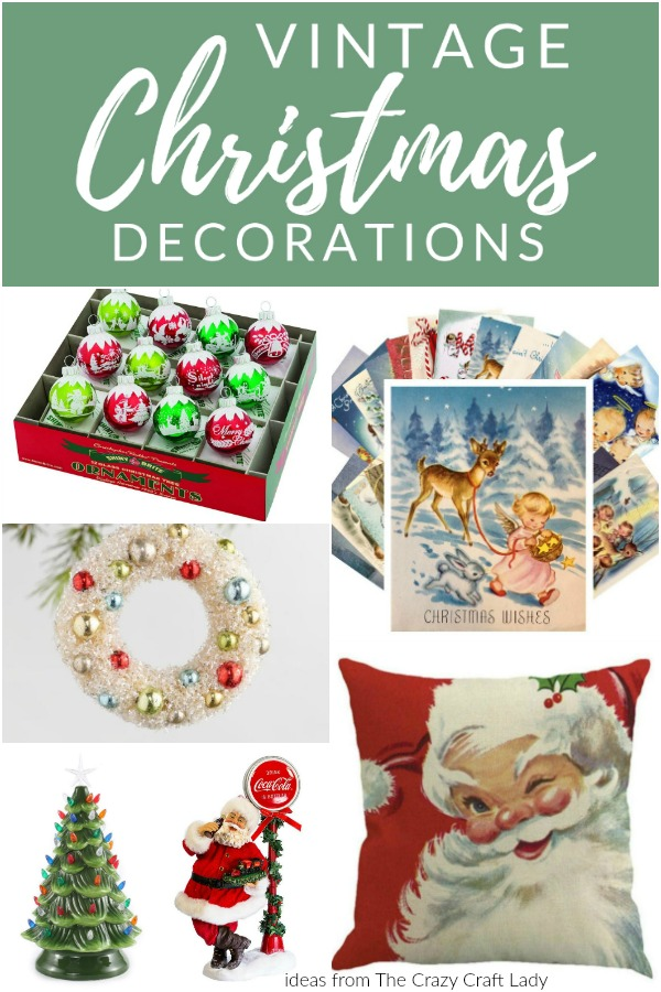 they may be reproductions but these vintage christmas decorations are filled with nostalgic christmas charm