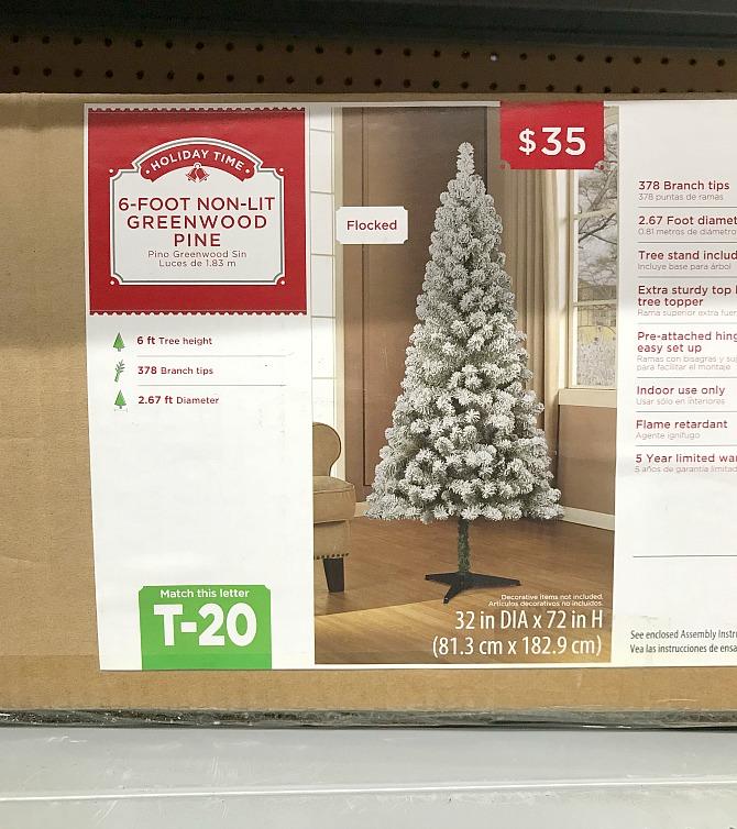 Walmart 6-Foot Non-Lit Greenwood Pine