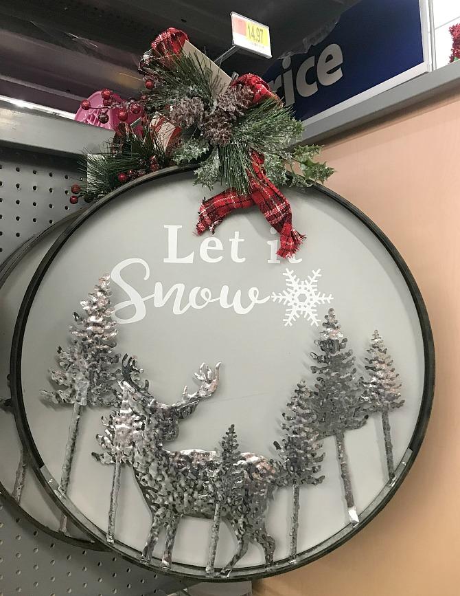 Walmart Christmas - Let it Snow Decoration
