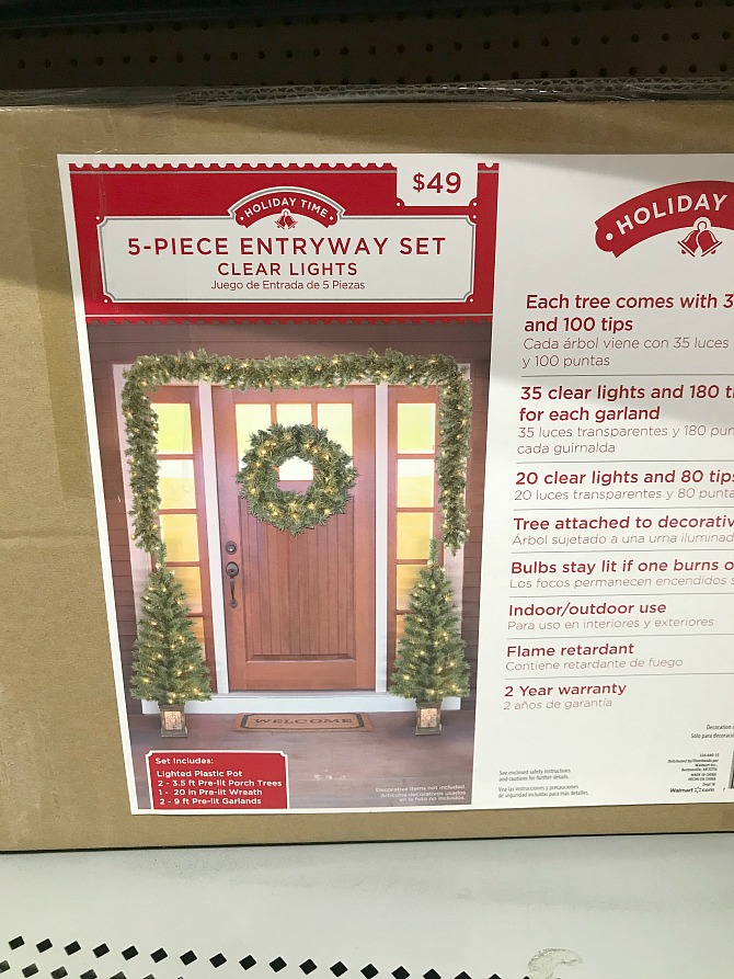 Walmart Outdoor Christmas Decorations - Entryway Set