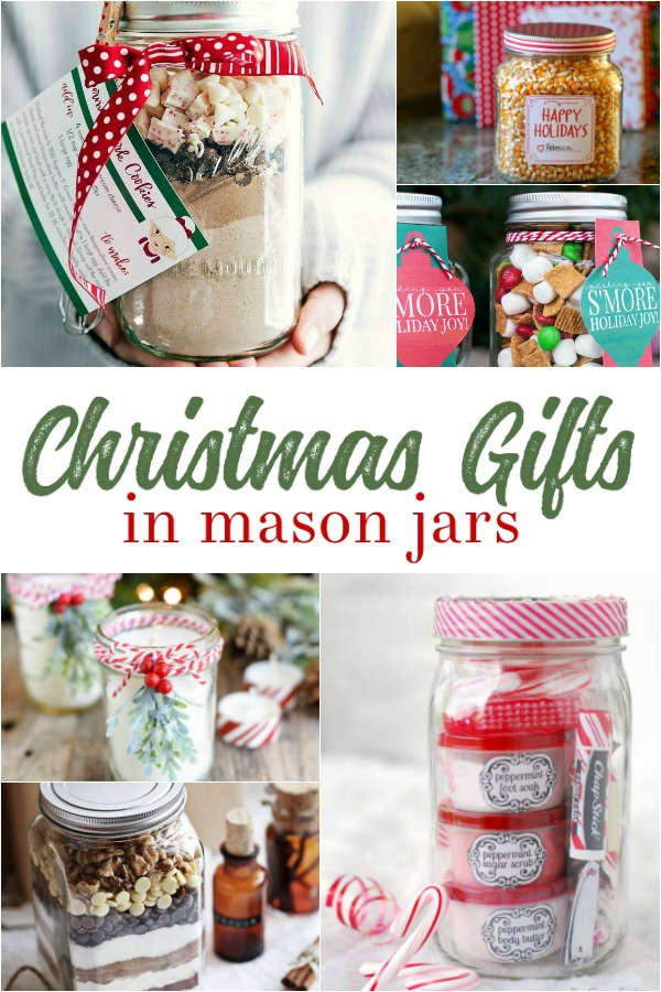Give one of these homemade Mason Jar Christmas Gifts this holiday season, with festive jar decorations and food gift ideas galore.