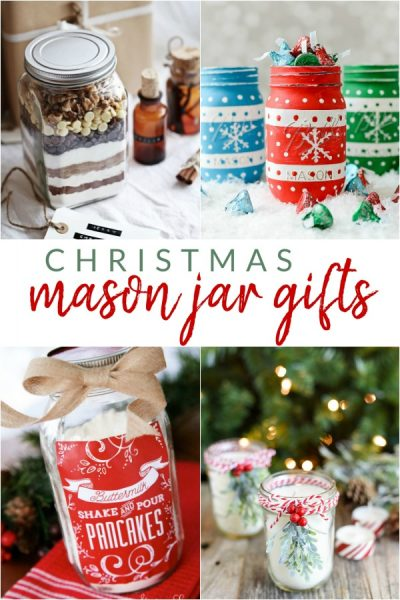 Make one of these Christmas Mason jar gifts for a friend or loved one this holiday season.