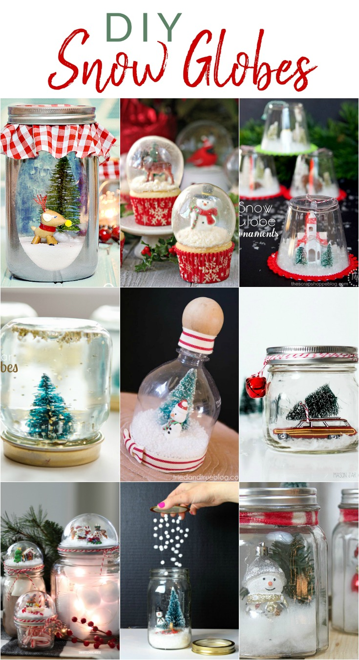 Make a fun wintry scene in a jar or bottle with one of these snowglobe tutorials.