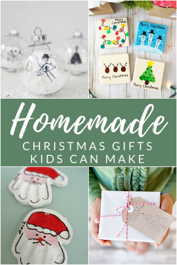 12 Sentimental Homemade Christmas Gifts From Kids The Crazy Craft Lady
