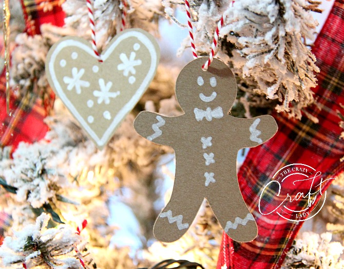 Kraft Paper Gingerbread Ornaments and Decorations