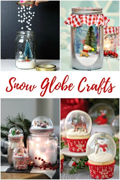 Create your very own Winter Wonderland with one of these adorable DIY Snow Globes - perfect for Christmas crafting and through the winter.