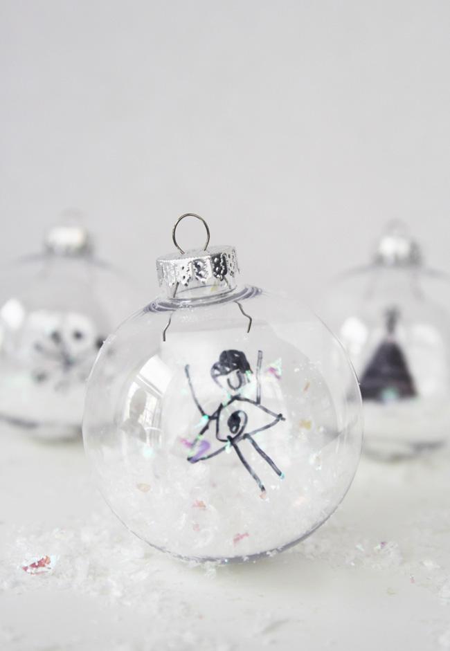 Sentimental Homemade Christmas Gifts from Kids - kids artwork keepsake ornament