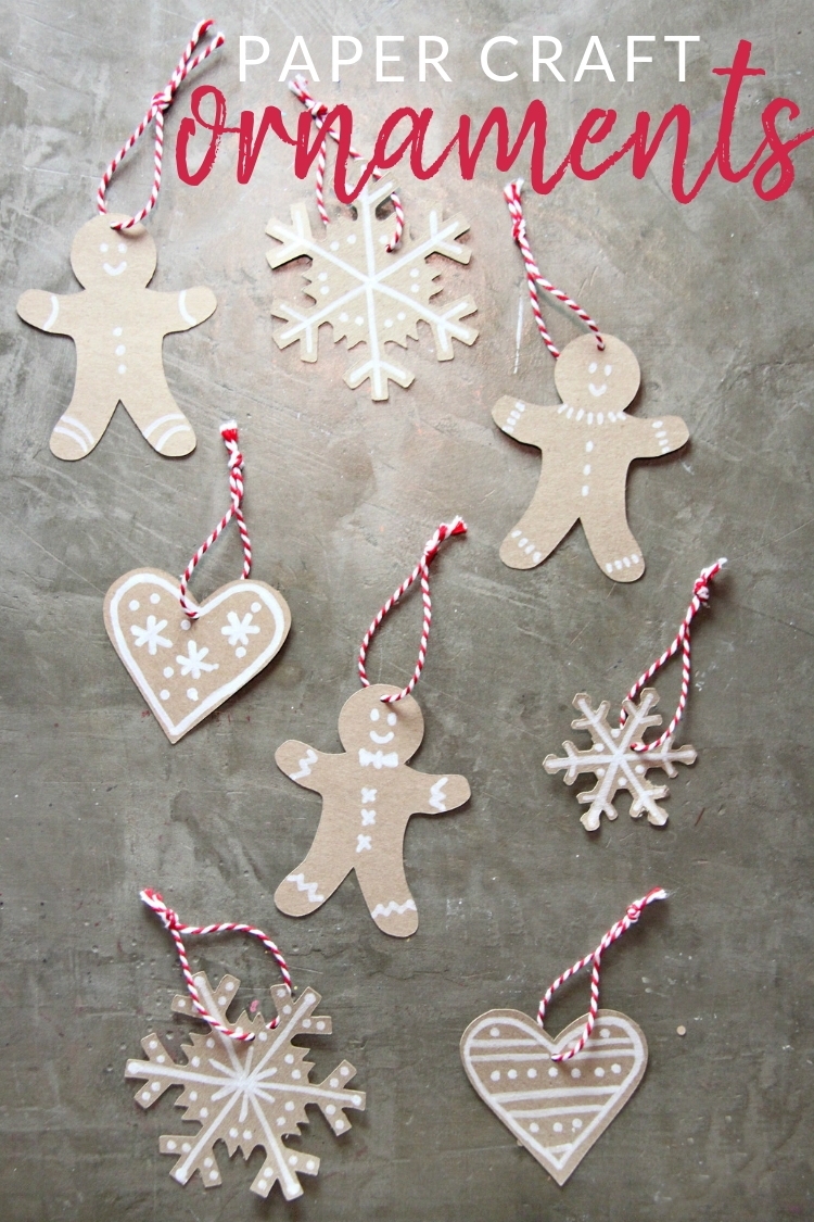 Skip the baking and make these cute little paper gingerbread ornaments instead. Use a few simple craft supplies to add a little sweetness to your tree.