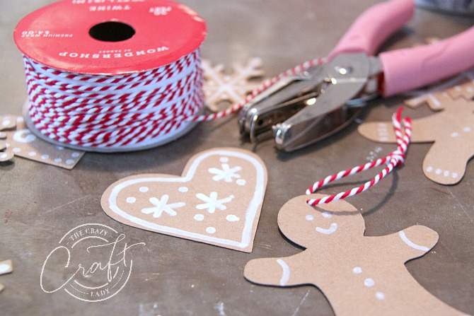 make gingerbread ornaments from paper