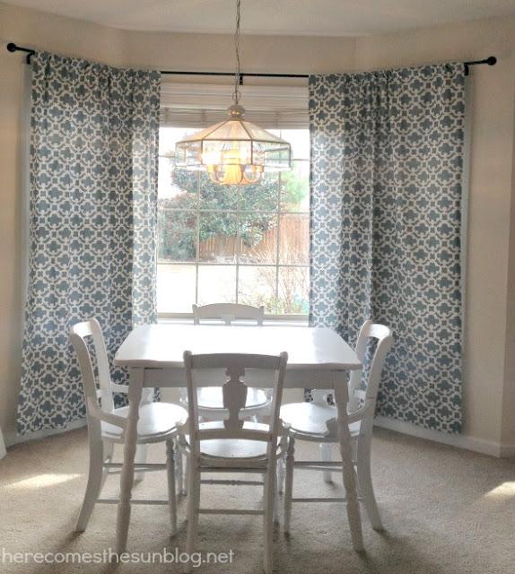 DIY Bay Curtain Rods
