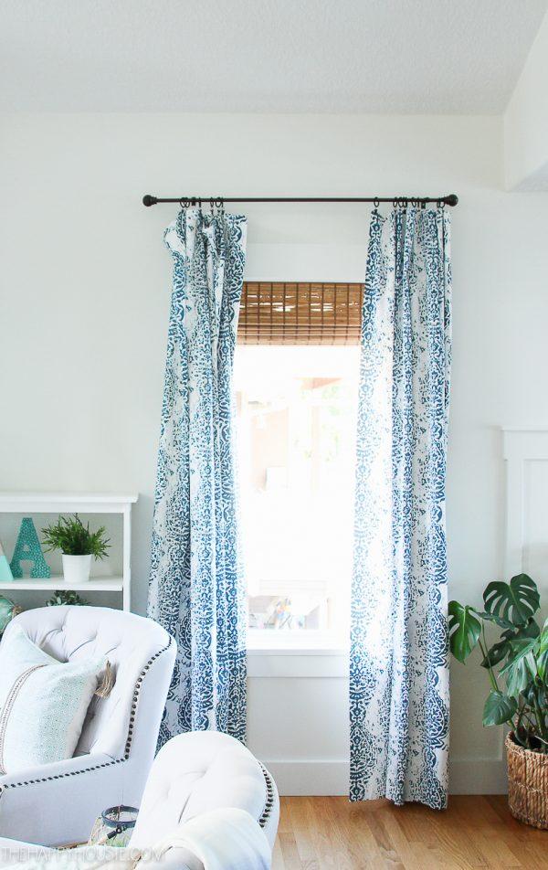 DIY No-Sew Curtain Panels