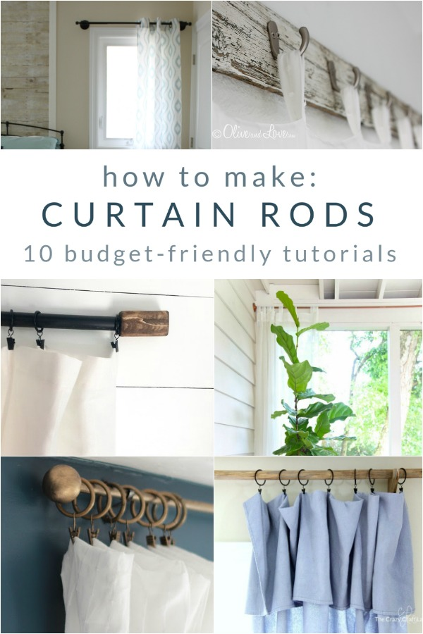 Make your own curtain rods. They're easy on the wallet and filled with personal style!