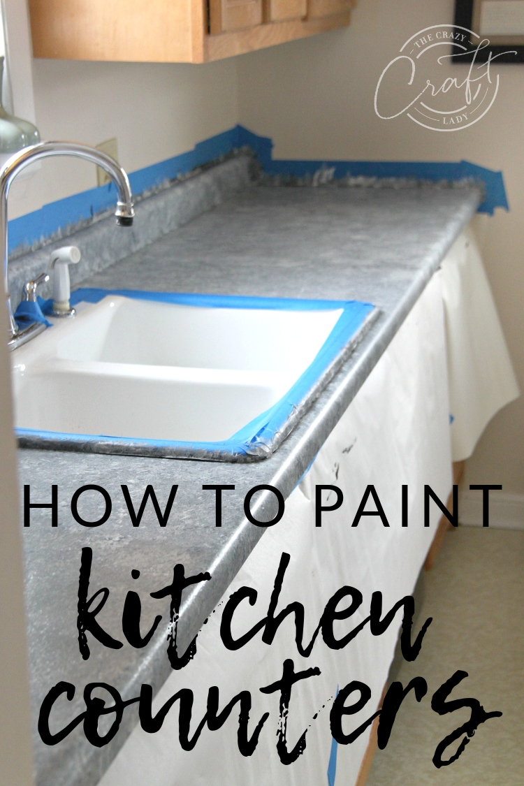 "Learn all about painting laminate counters! I painted our kitchen counters using a ""granite"" Giani countertop paint kit. It's an easy and affordable way to update your kitchen."