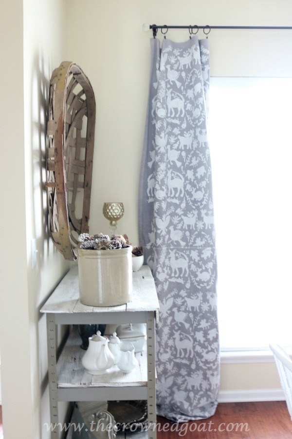 Stencilled Dropcloth Curtains