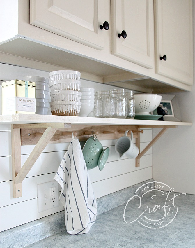 cottage style open kitchen shelves