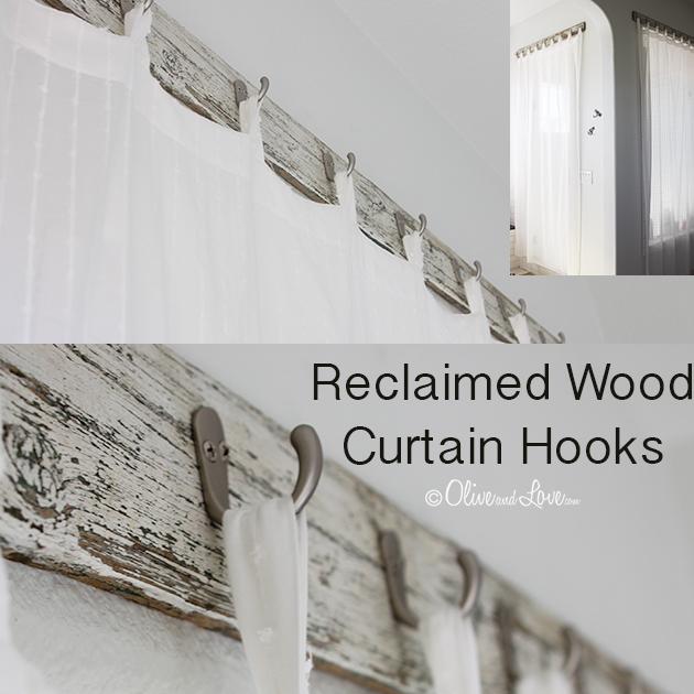 reclaimed Wood Curtain Hooks