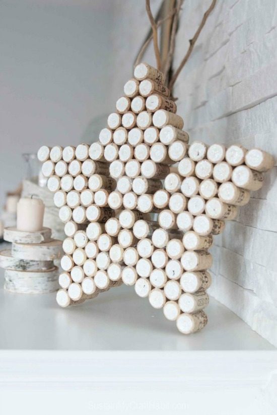 DIY Decorative Wine Cork Star Upcycle Craft Project - Pretty AND Functional Wine Cork Crafts
