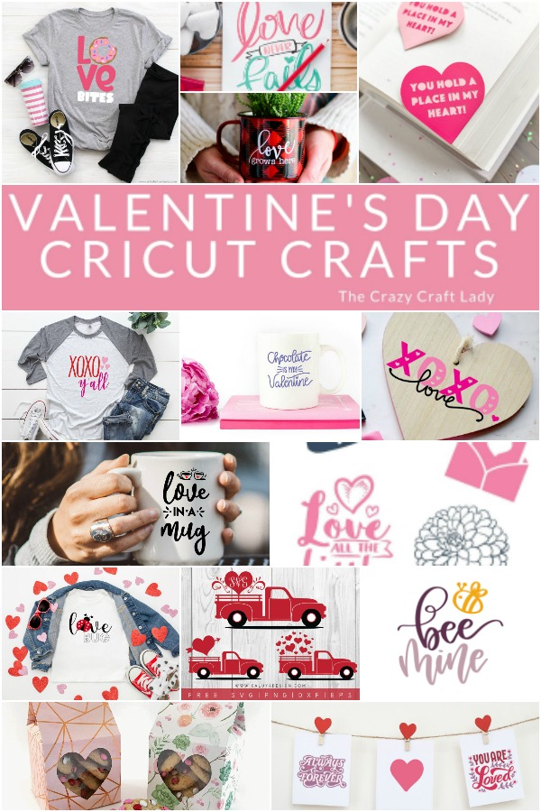 From t-shirts to mugs, and sweet projects galore, get crafty with your Cricut for Valentine's Day with these 14 FREE Valentine cut files.