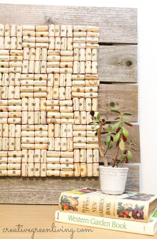 how to make a bulletin board from used wine corks - Pretty AND Functional Wine Cork Crafts
