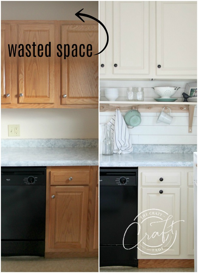 Genius DIY: Raising Kitchen Cabinets and Adding an Open ...