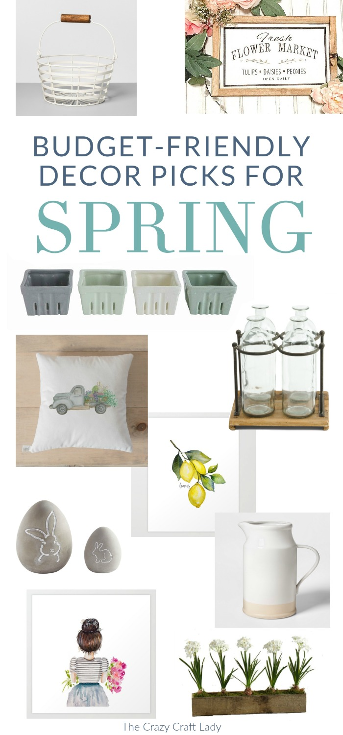 Budget-Friendly Decor Picks for Spring - Farmhouse Spring Decor, Spring Home Decor Ideas