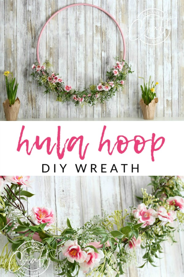 This cherry blossom hula hoop wreath will make a cheery addition to your spring décor. Hang it above your mantel or on your wall for a pop of color. This spring craft can be made in whichever colors you'd like. Swap out the flowers for your favorites or to match your home decor!