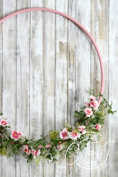 Spring Hula Hoop Wreath – Make a Large Cherry Blossom Wreath