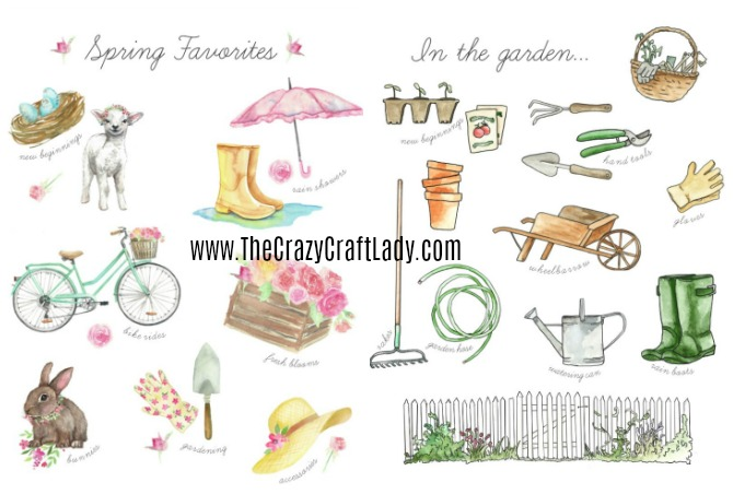 Spring Favorites Printable and Gardening Essentials Printable