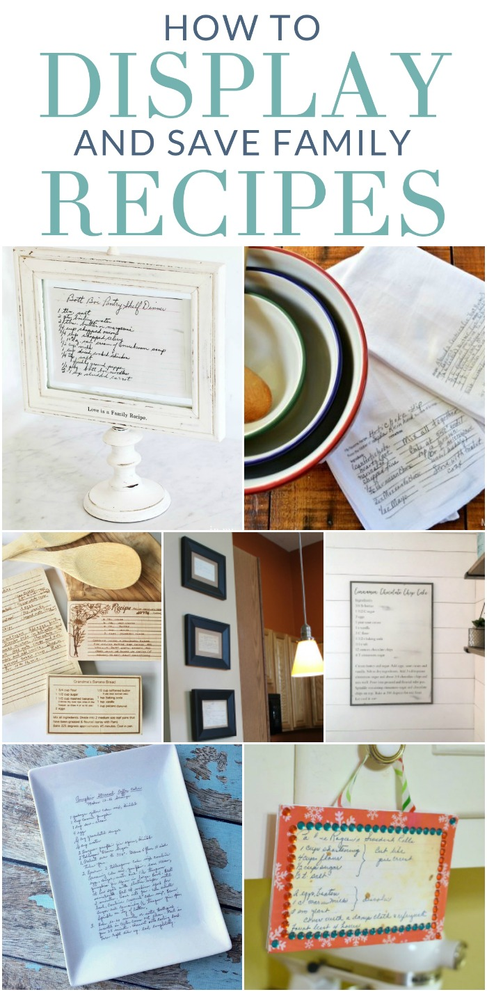 How to Display and Save Family Recipes: Preserve family recipe cards with these meaningful kitchen projects that serve as a daily reminder of special family memories.