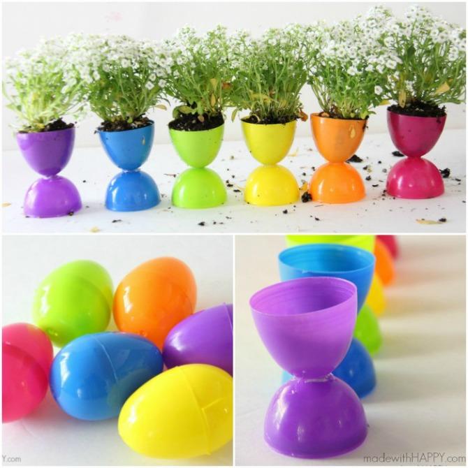 Mini Plastic Egg Spring Pots
