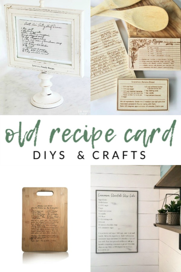 Old Recipe Card DIYs and Crafts - Preserve family recipe cards with these meaningful kitchen projects that serve as a daily reminder of special family memories.