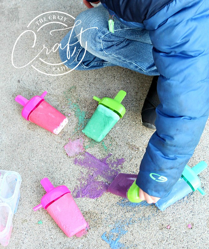 Tutorial: How to make DIY Frozen Sidewalk Chalk