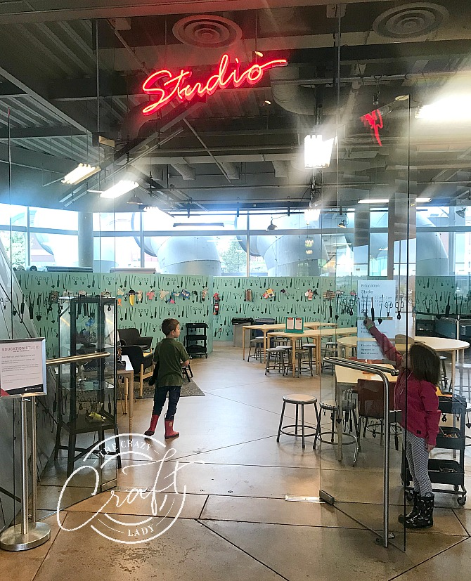 Kids Studio at Tacoma Museum of Glass