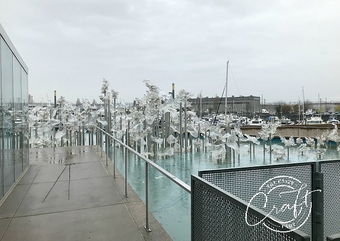 Outside the Tacoma Museum of Glass