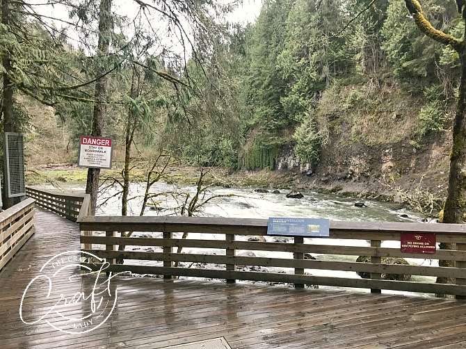 Viewing Point at the Bottom of Snoqualmie Falls