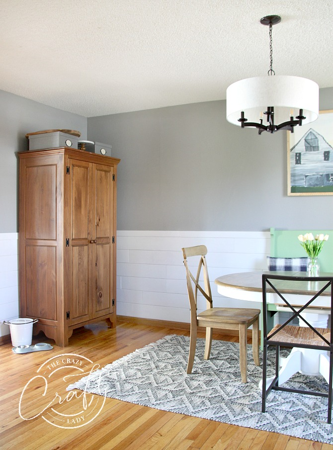 antique cabinet for extra dining room storage