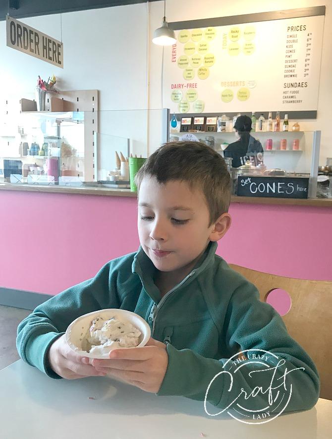 eating ice cream at Ice Cream Social Tacoma