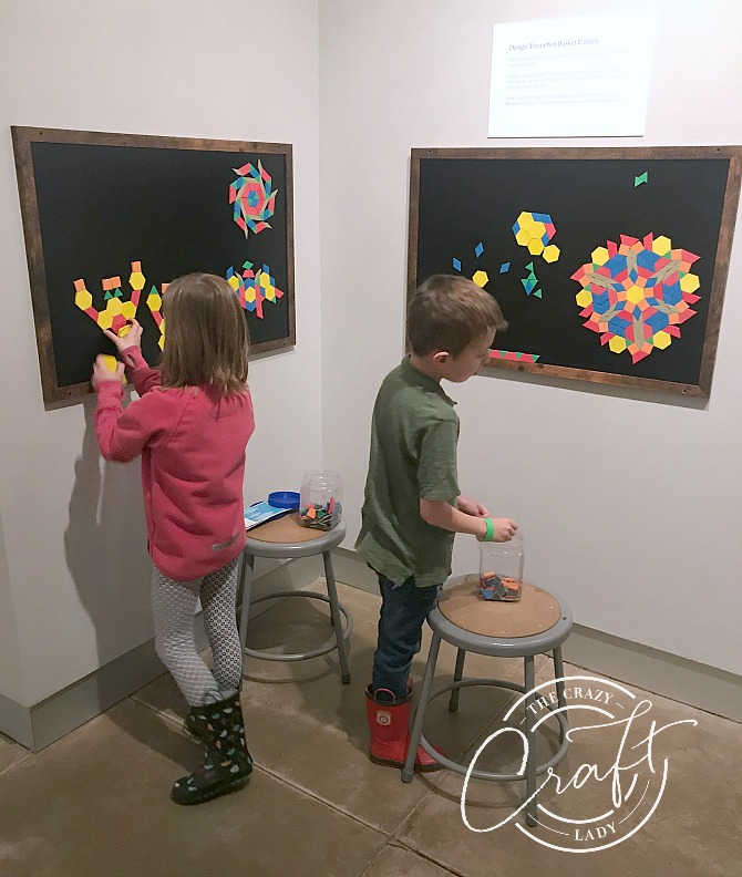 hands-on design activity for kids at the Tacoma Museum of Glass